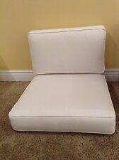 2 pc Frontgate METROPOLITAN Outdoor Club Lounge Chair Cushion 25x28 White NEW
