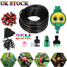 82ft Automatic Drip Irrigation System Kit Plant Timer Self Watering Garden Hose