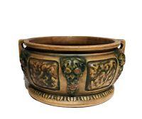"""1920s Roseville Art Pottery Florentine 7"""" Handled Bowl Vase"""