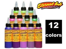 ETERNAL Tattoo Inks Liz Cook Signature Set of 12 Colors Flower 1 oz Authentic US