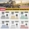 107pcs Motorcycle Aluminum Fairing Bolt Kit Fastener Clip Screw Washers 6  F K