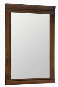 Style Selections- Windell Rectangular Mirror- Auburn Finish 20.5 W 29.5 H