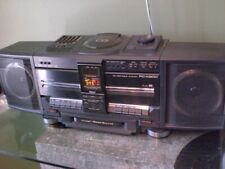 VTG JVC PC-X300 CD, DUAL CASSETTE,  RADIO BOOMBOX WORKS GREAT HYPER BASS SOUND