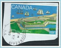 Canada #1547(1) 1995 43 cent LOUISBOURG HARBOR & SHIPS RIVER BOURGEOIS QUEBEC