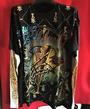 "Christian Audigier Ed Hardy Hollywood  ""Plat Cheers""   T Shirt 2XL"