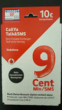 WOW Vodafone Talk&SMS Sim Karte mit 10€ Guthaben CallYa 9 Cent Prepaid Card Top