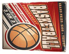 Topps 1957 Basketball Blechschild Flach Neu aus USA 31x40cm S1596