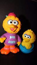 Vintage Sesame Street Big Bird Weeble Wobble Toy ILLCO & Large Figure Lot  RARE