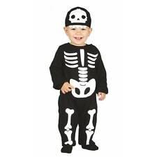 Baby & Toddler Skeleton Jumpsuit Boys Kids Halloween Fancy Dress Costume