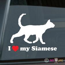 I Love my Siamese Sticker Die Cut Vinyl - Ver 3 meezer cat feline kitten