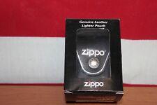 Zippo Black Leather Lighter Pouch/Case/Holder Belt Loop Sheath Made In U.S.A.