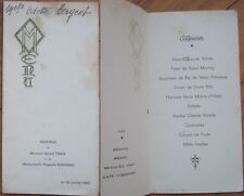 1948 French Wedding Lunch Menu: Wines - Graves/Medoc/Beaulieu