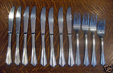 12 Pieces Sakura Silverado Flatware - Stainless Steel Forks Dinner Knives