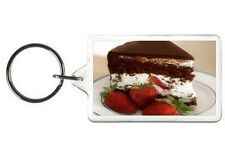 CHOCOLATE CREAM CAKE NOVELTY KEYCHAIN PICTURE PHOTO