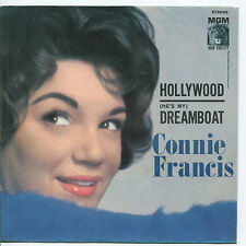 CONNIE FRANCIS 'Dreamboat / Hollywood'  45 RPM PICTURE SLEEVE (POP)