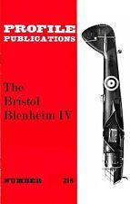 BRISTOL BLENHEIM Mk.IV: PROFILE #218/ 5 NEW PAGES+A3 CUTAWAY NEW PRINT FACSIMILE