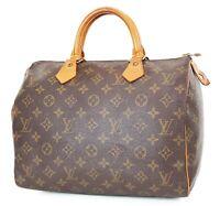 Authentic LOUIS VUITTON Speedy 30 Monogram Boston Handbag Purse #37445