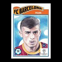 2020 UCL Topps Living Set UEFA Champions League PEDRI RC Card #243 FC BARCELONA
