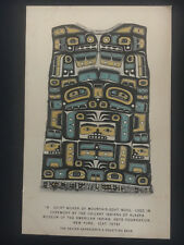 Mint AK USA Postcard Native American Indian Eskino Chilkat Short Weaving