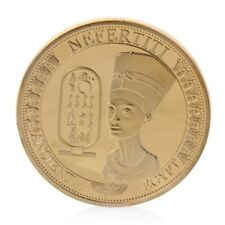 Ancient Egypt Nefertiti Commemorative Challenge Coin Collection Gift Golden NEW