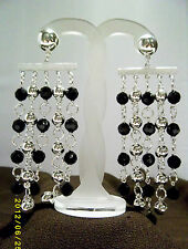Silver Plated Earring Vintage Costume Jewellery (1980s)