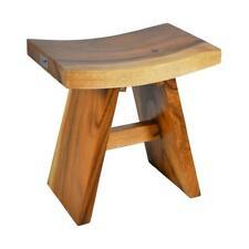 DIVERO Hocker Suar Holz Sitzhocker Holzhocker massiv reine Handarbeit behandelt