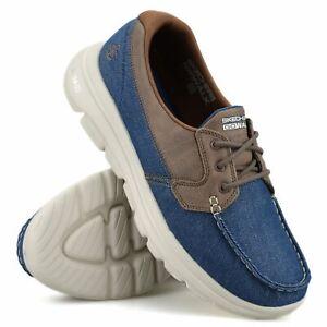 Mens Skechers Memory Foam GoWalk Casual Walking New Lace Up Boat Deck Shoes Size