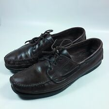 VINTAGE Dexter USA Deck Boat Driving Walking Trail Moc Shoes Brown Leather-14 M