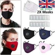 2x PM2.5 Anti Haze Fog Air Pollution Reusable Face Mask +Activated Carbon Filter