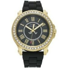 Juicy Couture Women's 1901069 Crystal Accent Black Silicone Watch