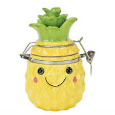 Boston Warehouse Pineapple Smiles Hinged Jar