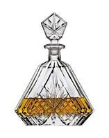 Triangular Crystal Decanter Whiskey Bourbon Scotch Wine Clear Bar Irish Alcohol