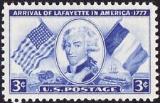 US - 1952 - 3 Cents Lafayette's Arrival In America Issue # 1010 Mint NH F-VF+