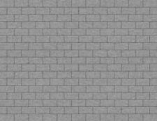 OO 00 Scale Gray Cobblestone Model Train Scenery Sheets 5 Seamless 8.5x11