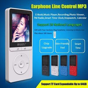 "1.8""TFT Screen RUIZU X20 HiFi 8G 16G Mini Sports MP3 Music Player FM Recorder"