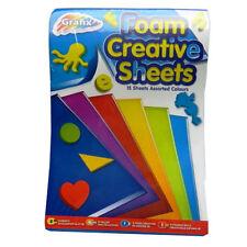 Grafix A5 Foam Creative Assorted Color 15 Sheets Kids Craft Activity Multipurpos