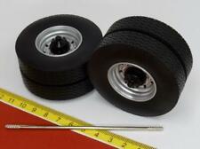 Achsen Felgen mit Reifen grau silber 1:18 Tire set - Road Kings RK18A006