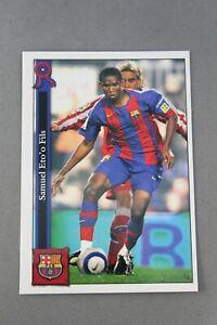 Samuel Eto'O 24 Chrome Football Chips Link 2006 F.C.Barcelona Mundicromo