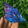 Natural Quartz Crystal Rainbow Titanium Cluster VUG Mineral Specimen Healing Q8