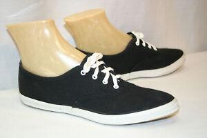 6.5 N NOS Vtg  70s BLACK Sneaker LaCrosse SKAMPS BLACK CANVAS TENNIS Gym Shoe