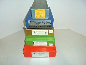 LOT OF SIX HO SCALE BRASS ENGINE BOXES VINTAGE