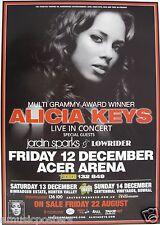 Alicia Keys / Jordan Sparks 2008 Australian Concert Tour Poster- Hip Hop Music