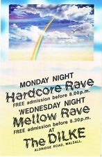 HARDCORE RAVE Rave Flyer Flyers year unknown A6 The Dilke Walsall