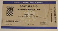 Ticket for collectors UEFA Boavista Porto - Odense BK 1996 Portugal Denmark
