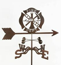 Fire Department Shield Vector, Fd, Firefighter Badge Weathervane Vane with Mount