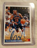 1992 Upper Deck #245-Terrell Brandon #11 Cleveland Cavaliers - Autographed - A++