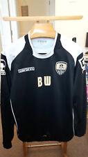 Notts County BW a maniche lunghe player worn football shirt XL
