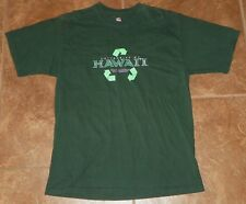 """UNIVERSITY OF HAWAII """"Go Green"""" T-SHIRT Size L Large Recycle Recycling"""