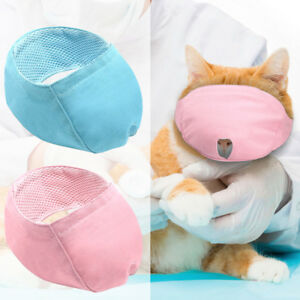 Cat Muzzle Breathable Cat Bathing Hood Cat Grooming Supplies for Cat Kitten XS-S