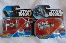 2 - Star Wars - Hot wheels - diecast (The Fighter and  Snowspeeder)  - New